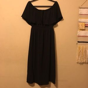 NWT DRA Black Off The Shoulder Midi Dress